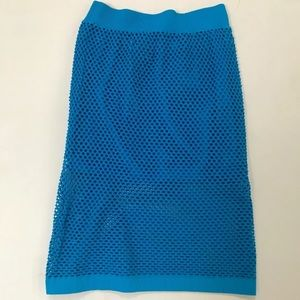 Pull On mesh sexy skirt blue NEW clubbing